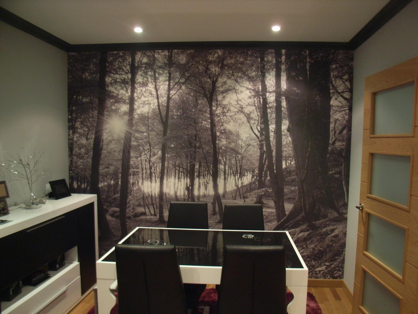 Mimoum blog pintura decorativa y mural en sal n comedor - Pintura pared salon ...