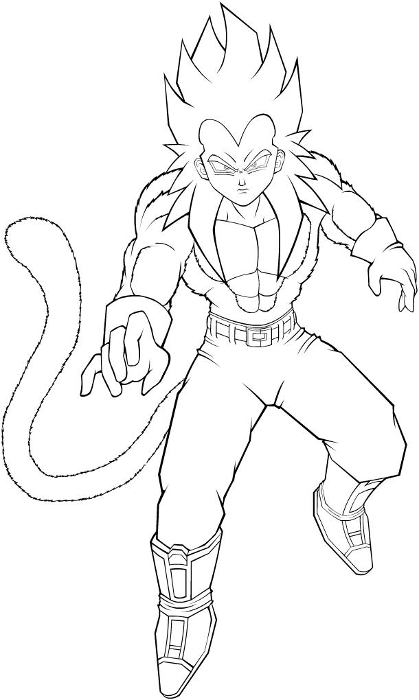 Desenhos Para Colorir :: Dragon Ball Z, GT e AF