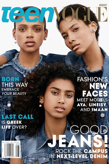 Model @ Aya Jones, Imaan Hammam, & Lineisy Montero by Daniel Jackson for Teen Vogue August 2015
