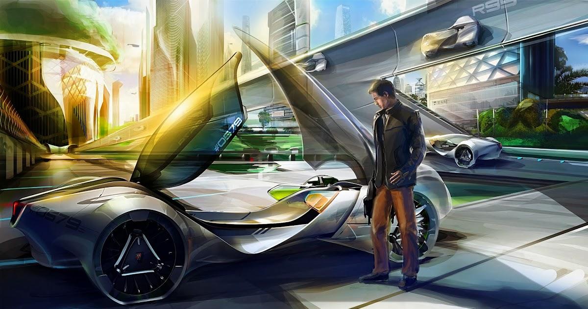 Voiture du futur la voiture bio de 2025 au salon de los for Salon de voiture