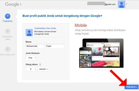 Buat profil publik Anda untuk bergabung dengan Google+