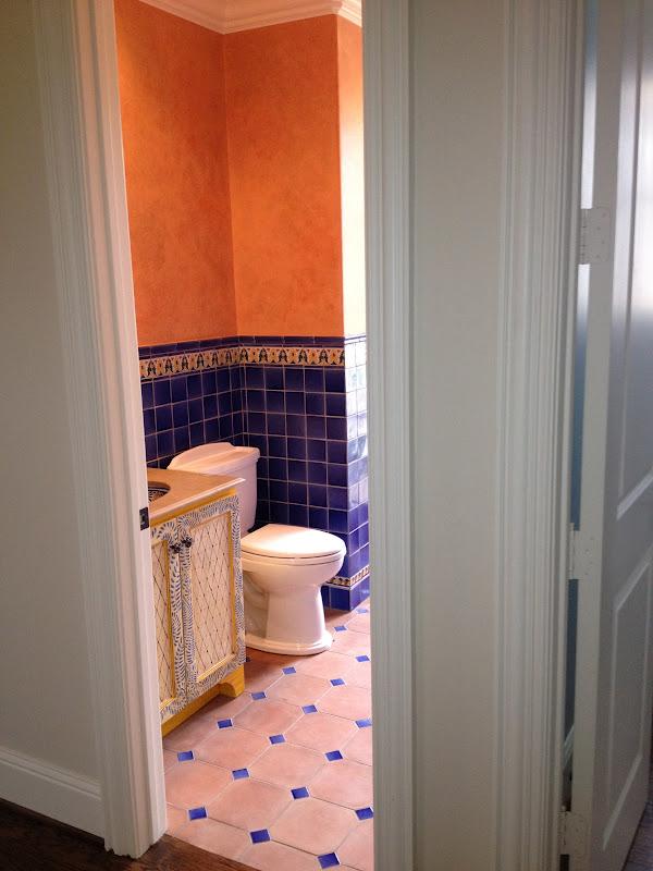 Linde Browning Design: hacienda chic bathroom on