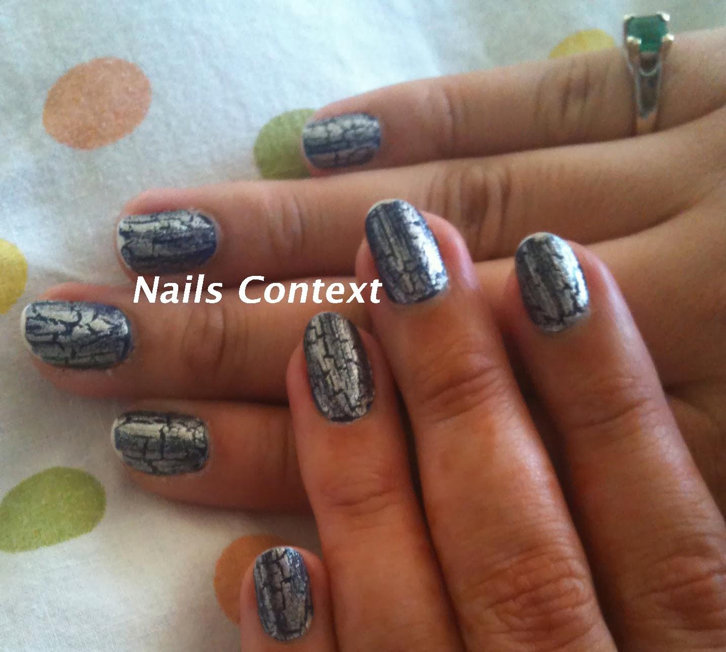 nails context: halloween series: shatter polish