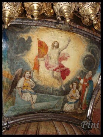 Fresco,Entrada al Sepulcro de Ntro.Señor