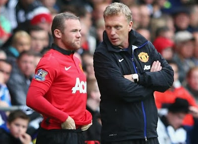 Wayne Rooney+David Moyes Winger Manchester United 20132014