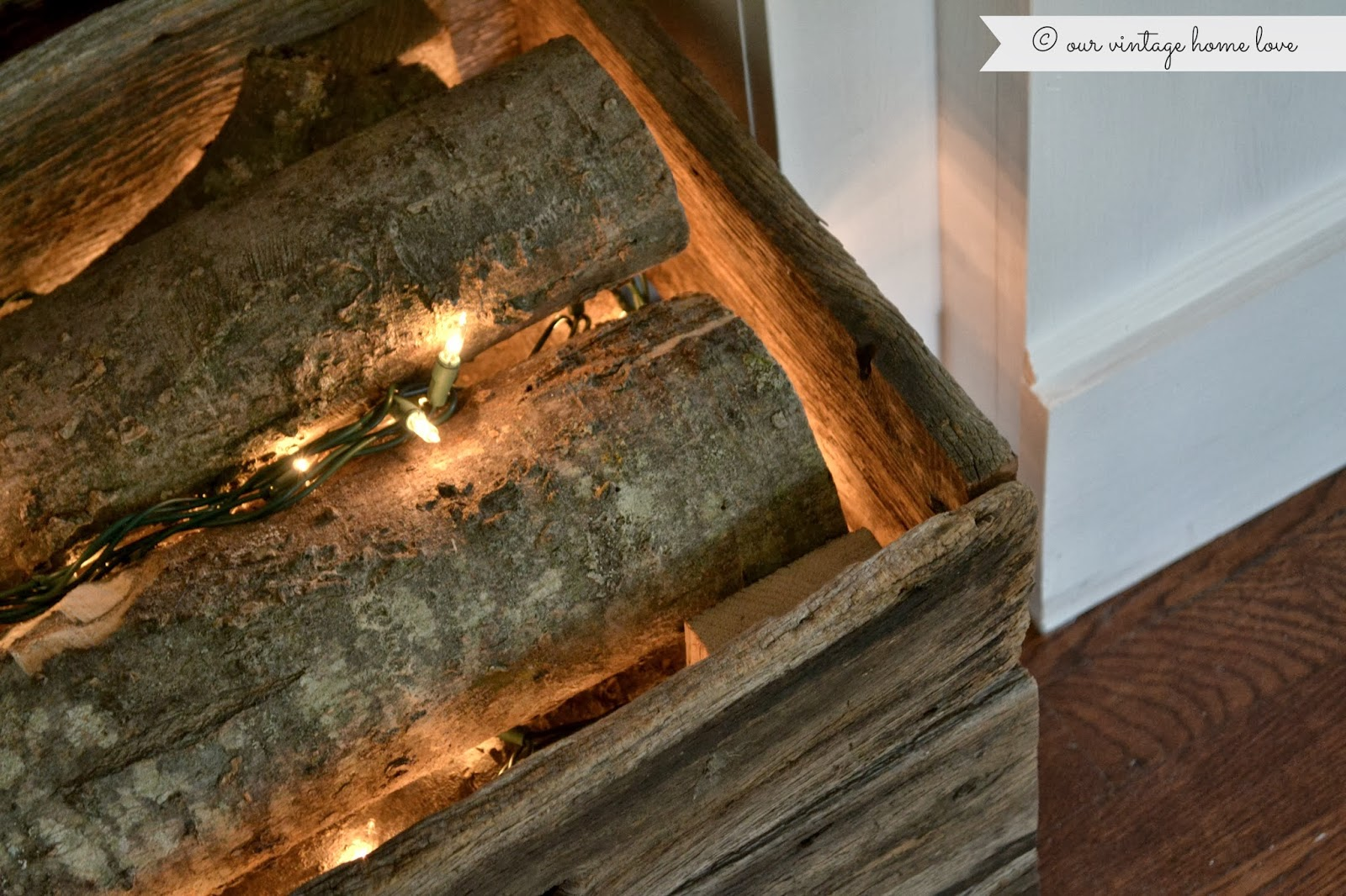 our vintage home love faux fireplace