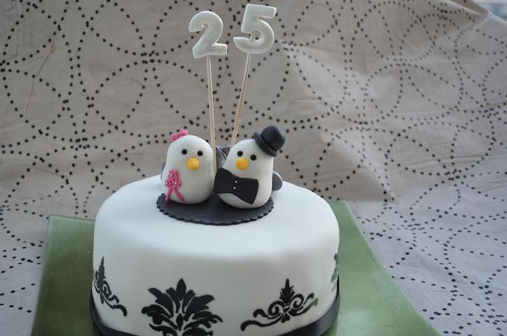 Tarta 25 años de casados!