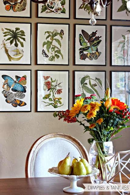 Gorgeous Botanical Wall Collage