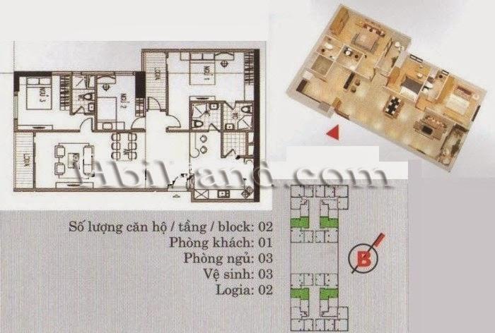 mặt bằng căn hộ 110.4m2 khu a chung cư imperia garden