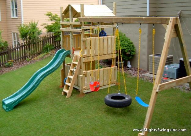 backyard swing sets atlanta ga mighty swings playsets atlanta