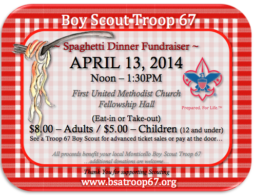 fundraiser dinner tickets template - bsa troop 67 monticello ar usa annual troop 67