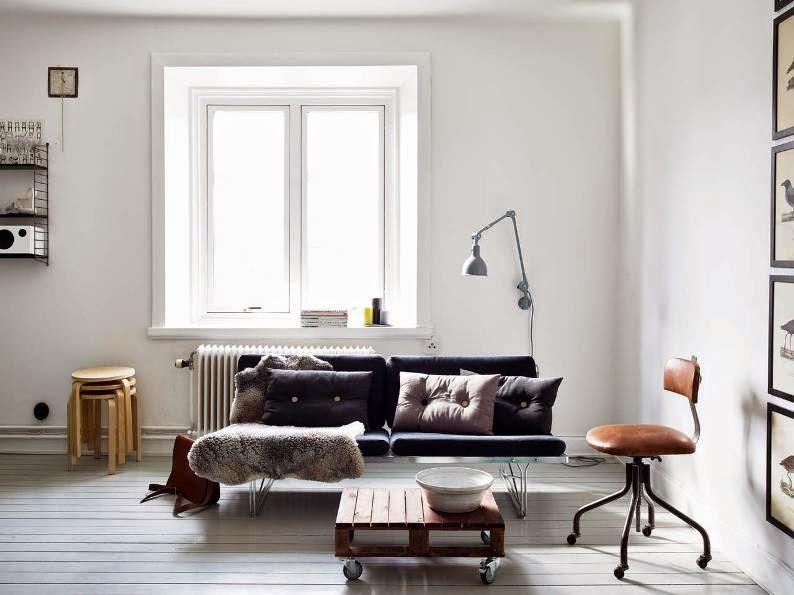 un apartamento de estilo nórdico masculino e industrial