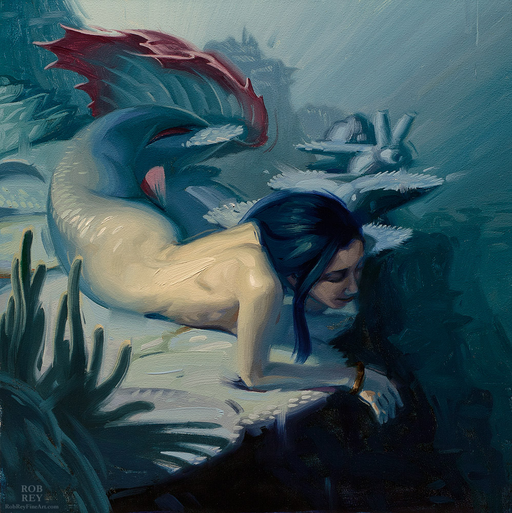 Gazing Into the Deep by Rob Rey - robreyfineart.com