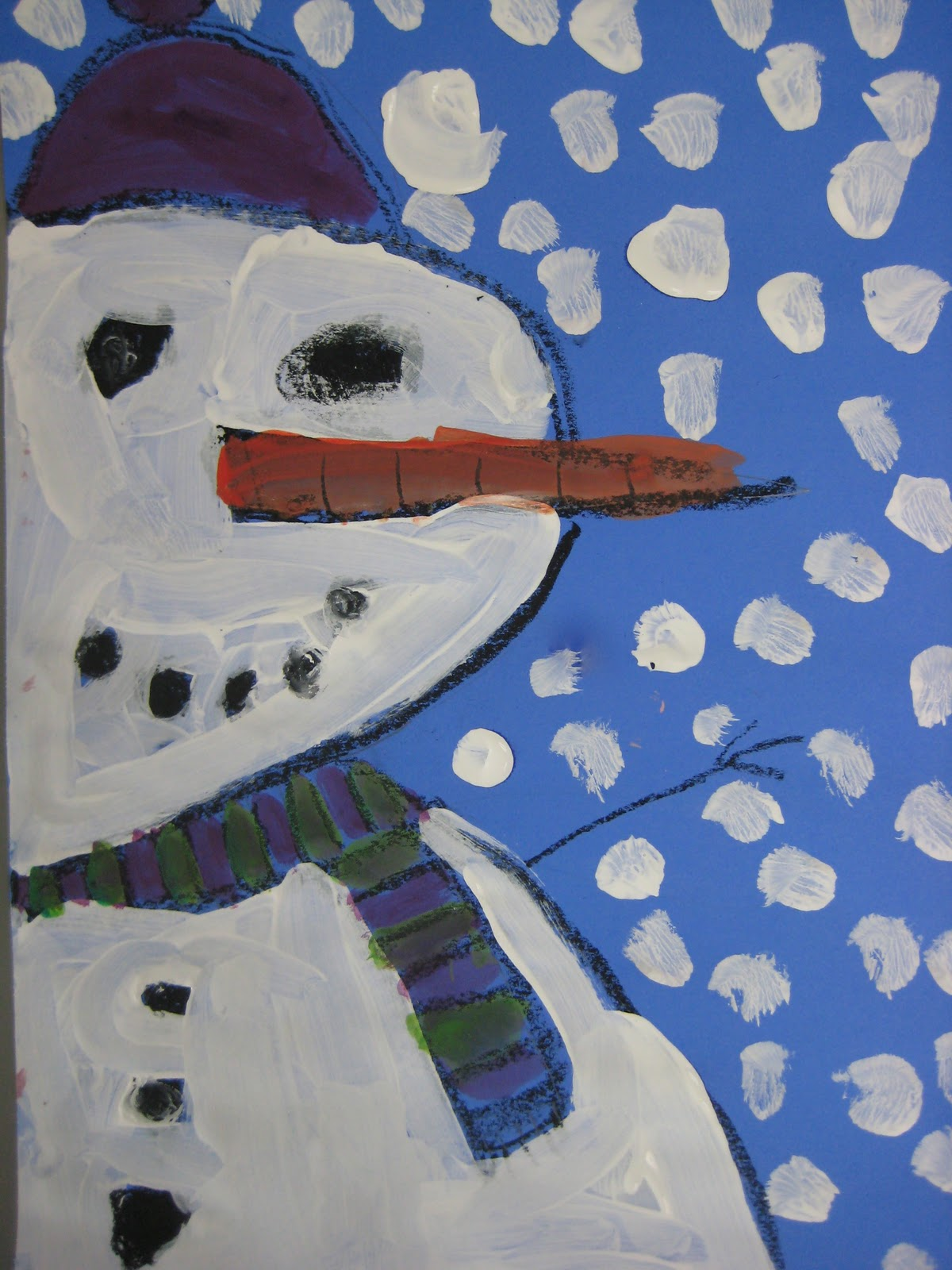 Snowmen with Tempera Snowmen with Tempera u2022