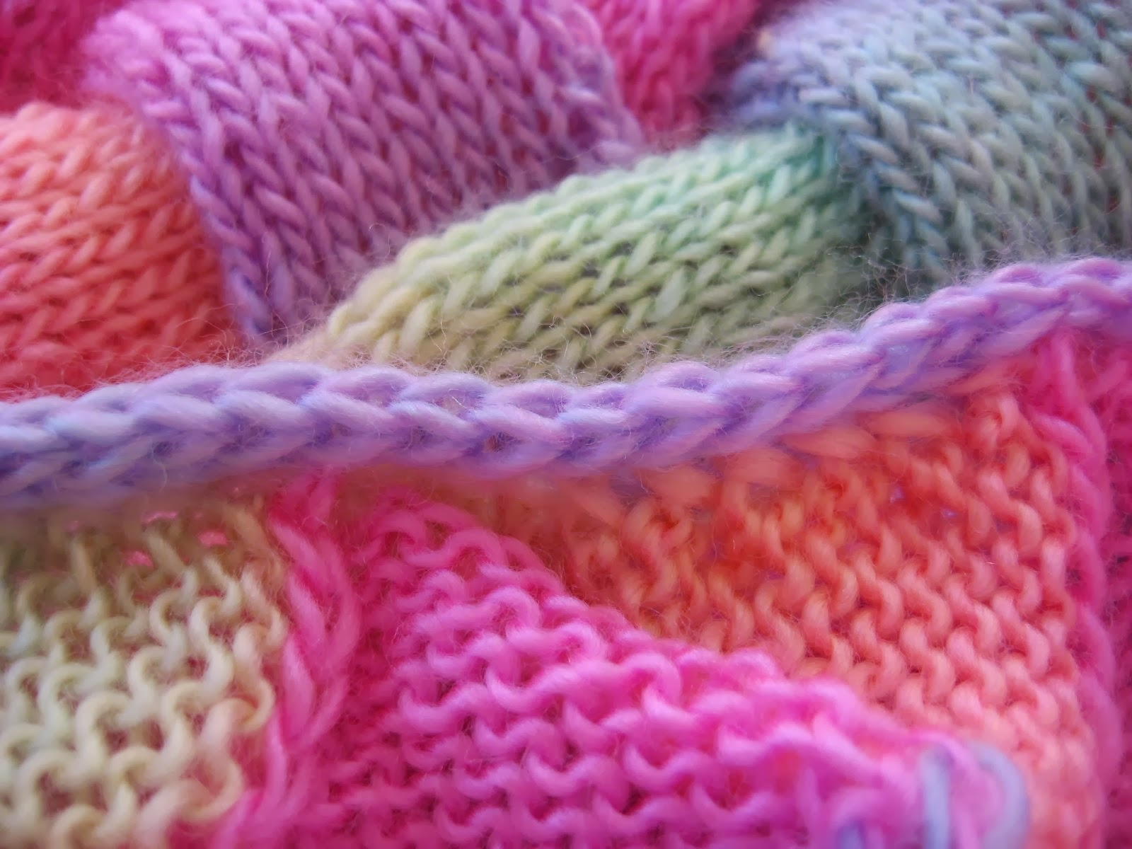 hooked on needles knitted entrelac baby blanket finished