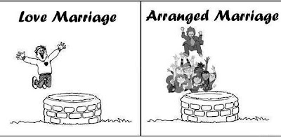 The choice between love marriage and arranged marriage