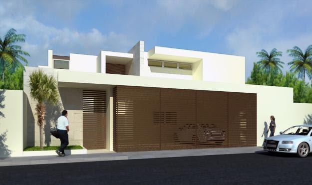 Fachadas de casas modernas fachada de casa contempor nea for Casa minimalista de 6 metros
