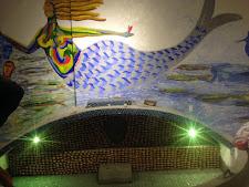 Nova pintura de Leonel Mattos na gruta de Iemanjá