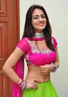 Akshara looks Super cute in Pink Choli and Green ghagra amazing beauty
