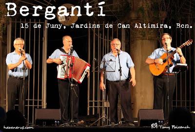 Grup Bergantí als Jardins de Can Altimira a Barcelona