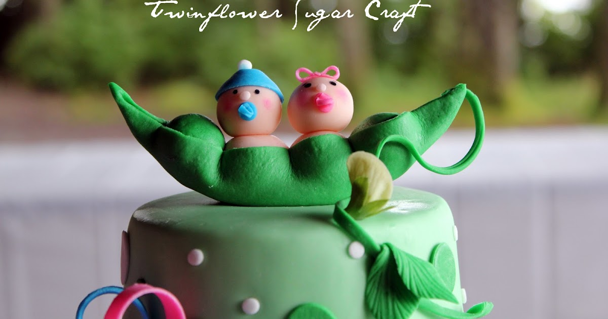 Twinflower sugar craft two peas in a pod for Peas in a pod craft