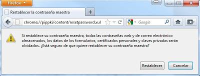 Resetear Contraseña Maestra de Firefox (Master Password)