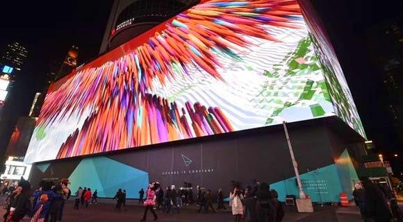 الكشف عن أكبر شاشة LED في العالم