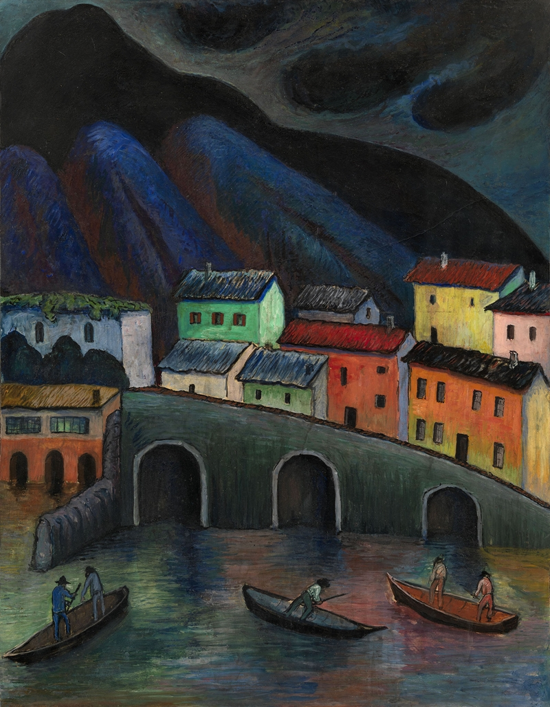 Red City | Marianne von Werefkin 1860-1938 | Russian-born Swiss Expressionist painter