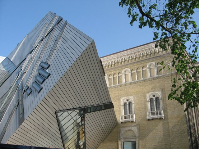 Royal Ontario Museum by Studio Daniel Libeskind close up of the facade