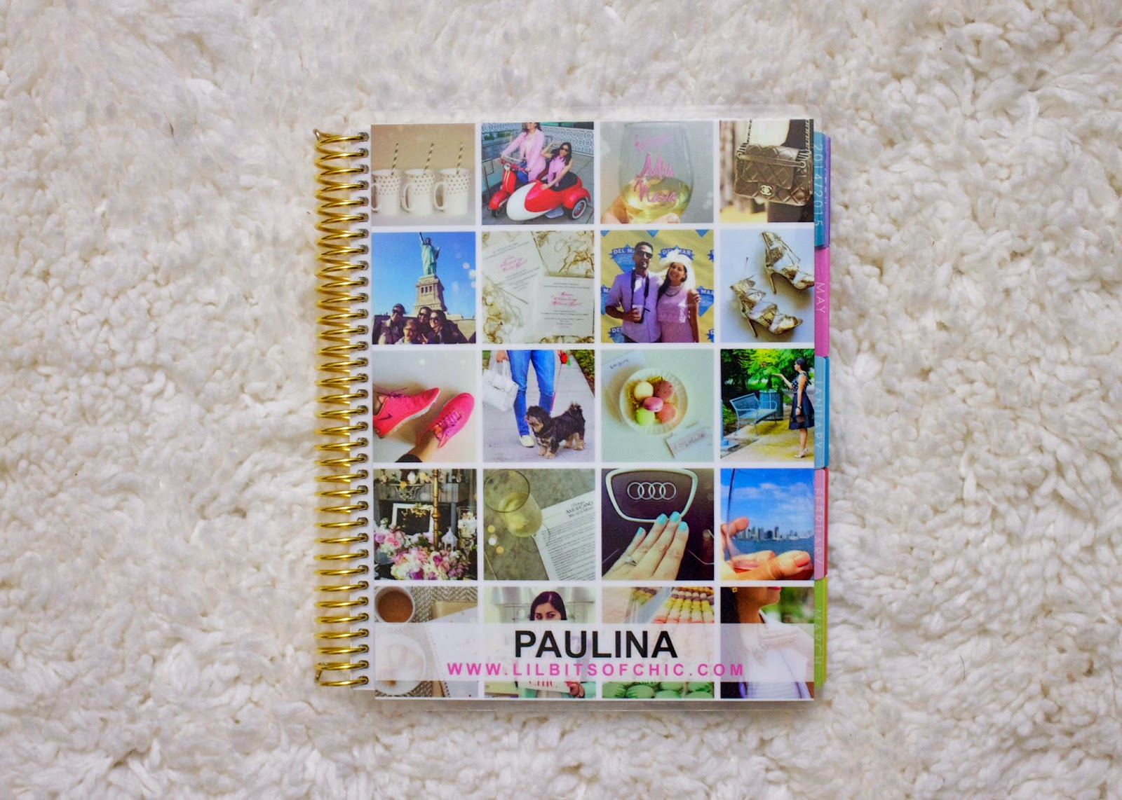 how I customized my planner cover, my customized Erin Condren Life Planner cover, Instagram planner cover, how I customized my cover with my instagrams, how to put instagram pictures on your planner cover, how to customize your erin condren planner cover
