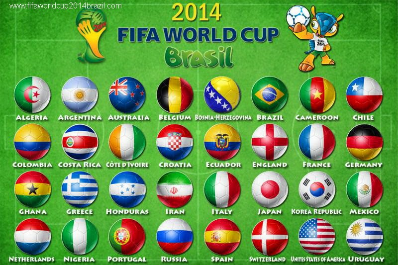 FIFA World Cup 2014 Complete Match Schedule China Indonesia Malaysia Singapore