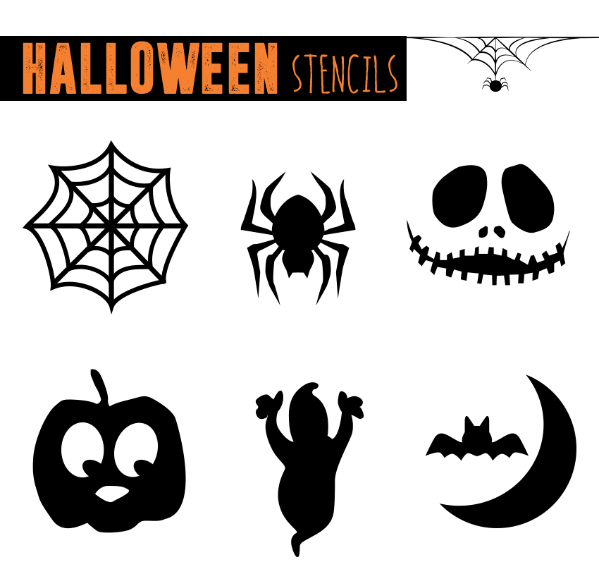 Crazy image in printable halloween stencils