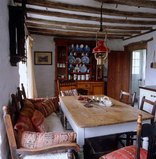 Farmhouse Kitchen Kilim Cushions And Odd Chairs