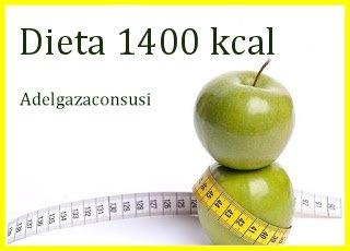 1400 kcal menu