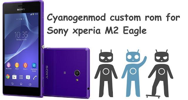 cm 12.1 custom rom sony xperia m2 eagle (D2303 D2306)
