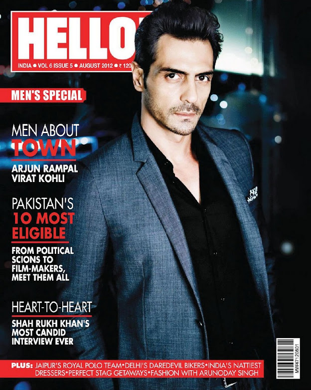 Arjun & Mehr Rampal on cover of hello magazine  - Arjun & Mehr Rampal Hello India Magazine Scans