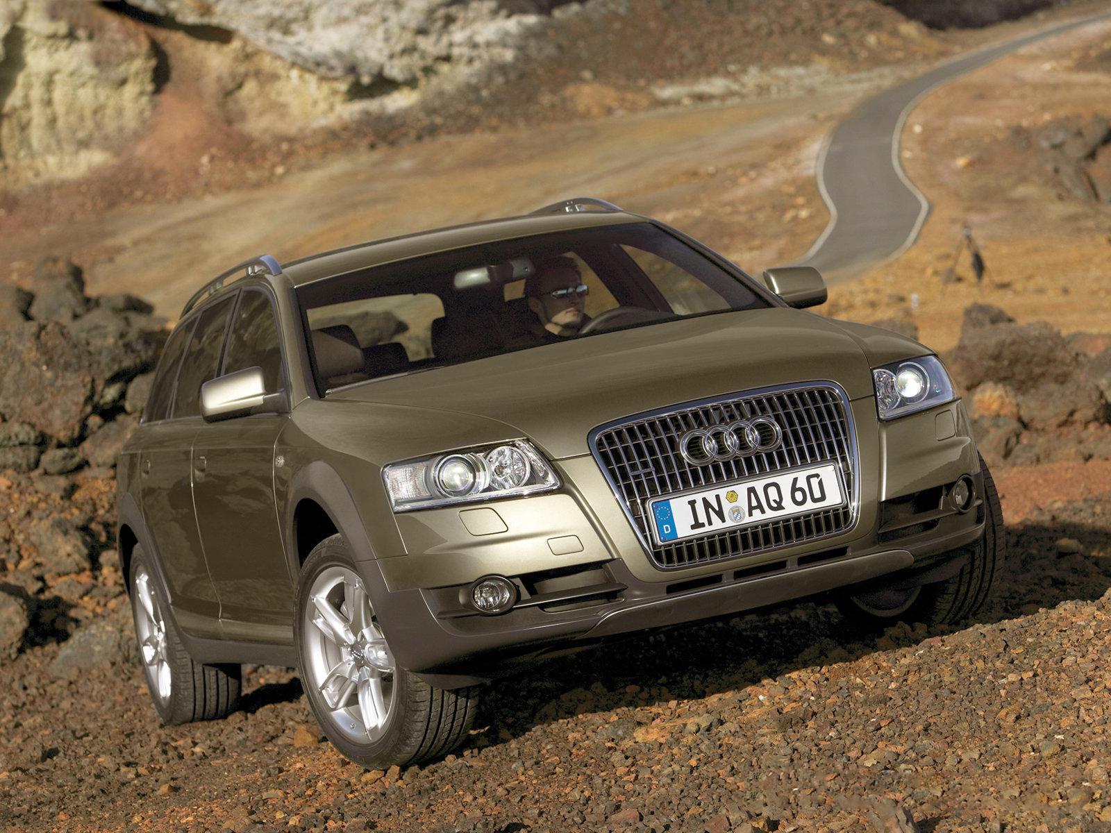 Audi a6 allroad quattro front view audi a6 allroad quattro rear view