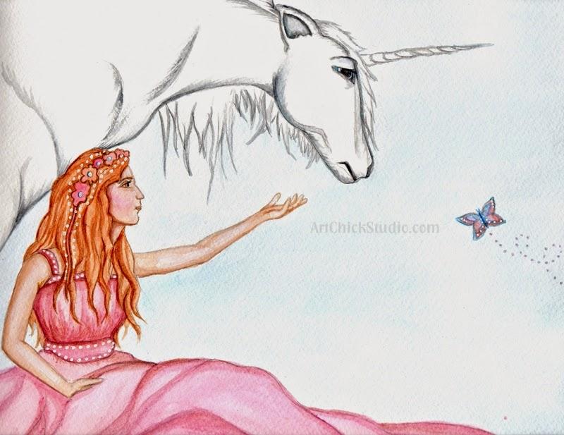 Unicorn Girl Fantasy Creatures