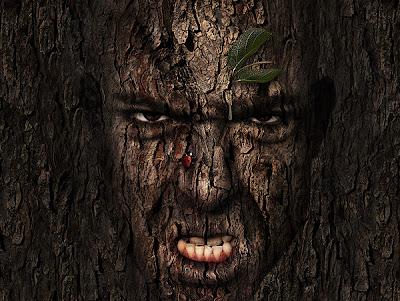 Manipulasi Photoshop Membuat Manusia Pohon