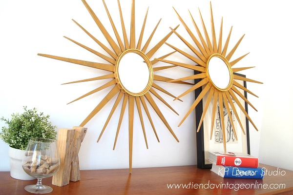 Espejos vintage valencia. tienda de decoración vintage. antigüedades online