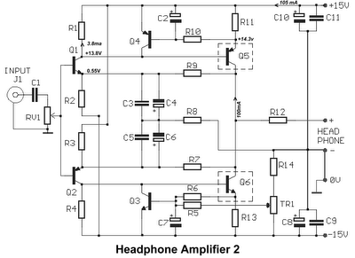 diagram of fisher 64 regulator class a headphone amplifier electronic circuit  class a headphone amplifier electronic circuit
