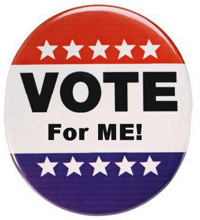 button that says Vote for Me
