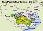 Map of Yangtze Basin and Cities