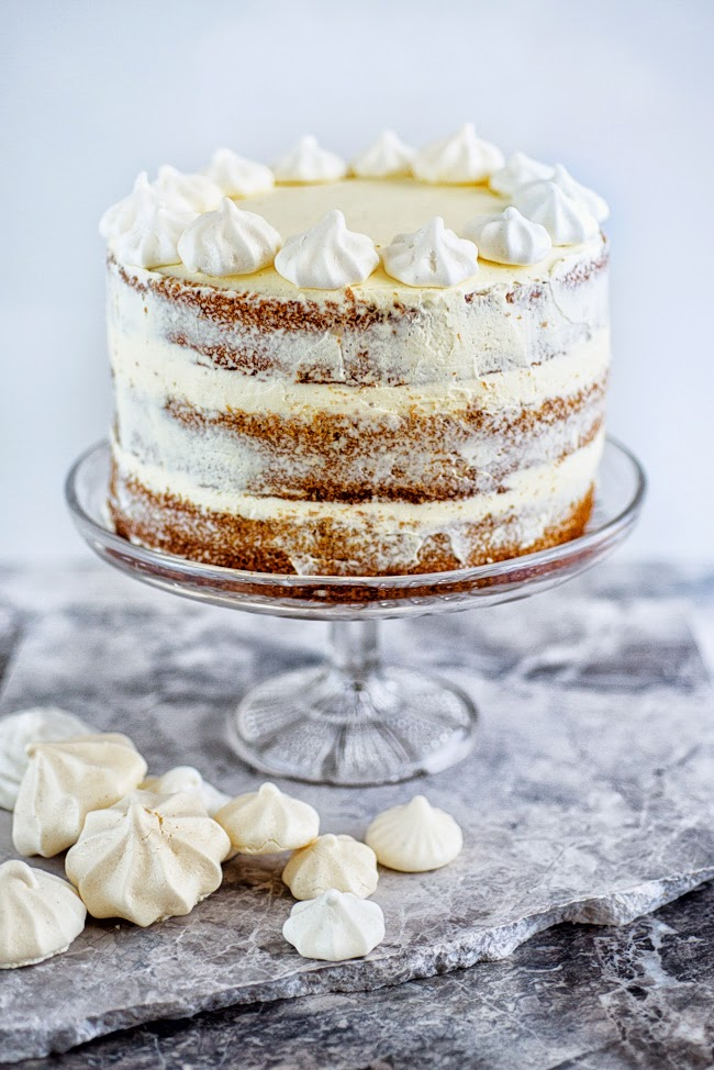Gingerbread cake with cinnamon cream cheese frosting supergolden bakes