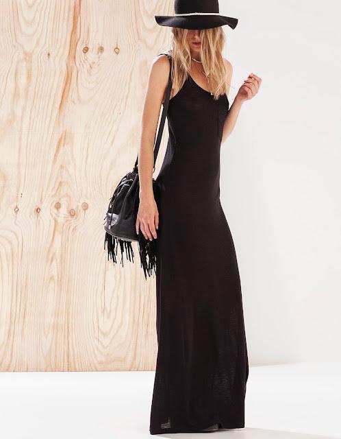 vestido largo stradivarius