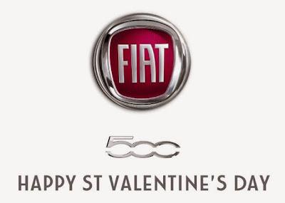Fiat 500 Wishes You Happy Valentine's Day