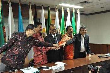 Anggota MPR RI saat Press Release