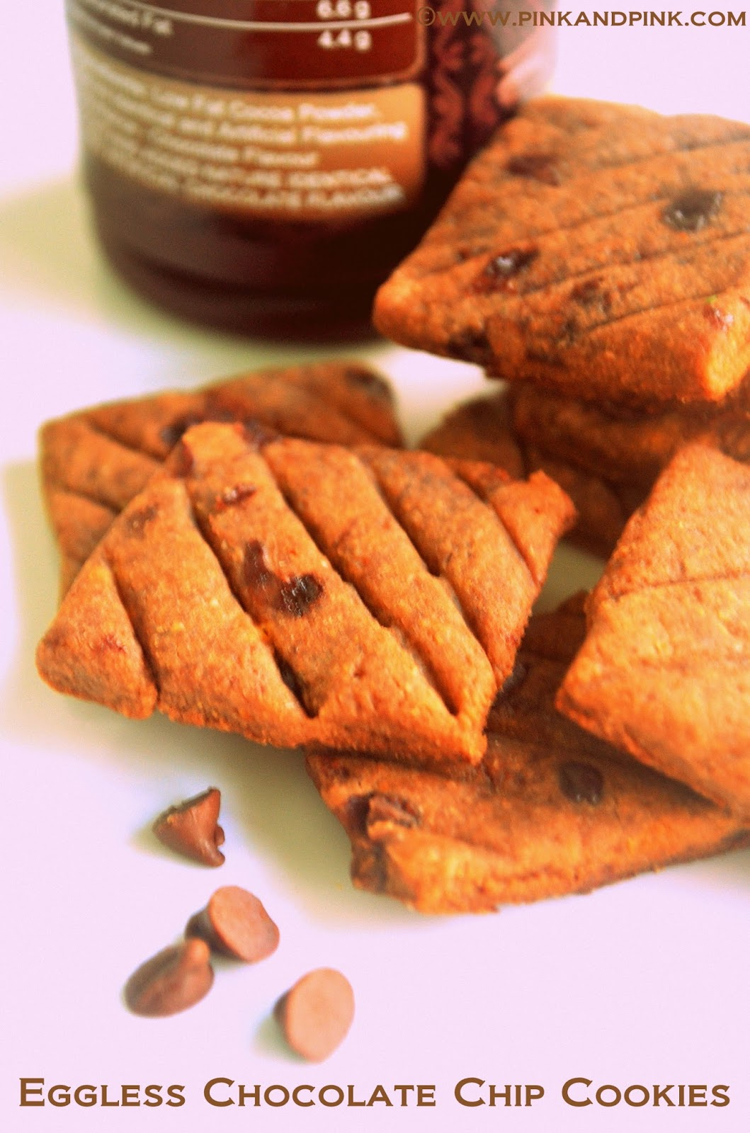 Eggless Chocolate Chip Cookies | Chocolate Chip Cookies Recipe ...