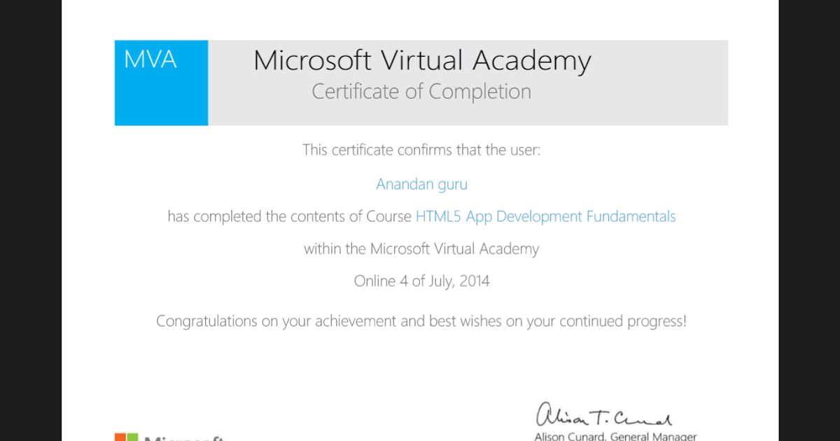 Microsoft Online Certification
