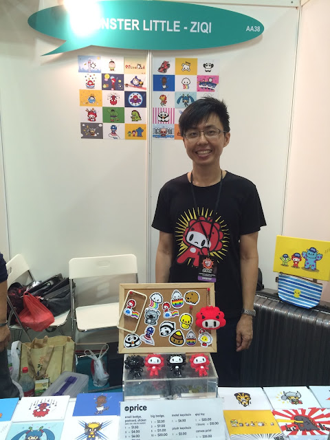 Singapore Toy, Game & Comic Convention STGCC 2015 artist alley ziqi monster little